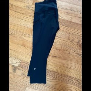 Lululemon Fast and Free High Rise Black Cropped 6.
